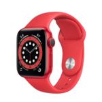 Apple Watch Series 6, 40MM, Корпус из алюминия цвета (PRODUCT)RED, Спортивный ремешок красного цвета