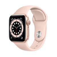 Apple Watch Series 6, 40MM, Корпус из алюминия золотого цвета, Спортивный ремешок розового цвета