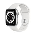 Apple Watch Series 6, 40MM, Корпус из алюминия серебристого цвета, Спортивный ремешок белого цвета