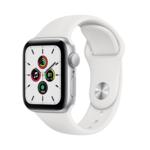 Apple Watch SE, 40MM, Корпус из алюминия серебристого цвета, Спортивный ремешок белого цвета