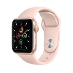 Apple Watch SE, 40MM, Корпус из алюминия золотого цвета, Спортивный ремешок розового цвета