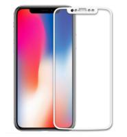 Противоударное модульное 3D стекло для iPhone X, белое