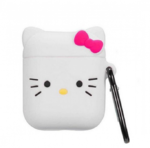 Чехол для AirPods/AirPods 2 3D Kitty (белый)