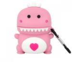 Чехол для AirPods/AirPods 2 3D Дракоша (розовый)