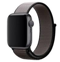 Нейлоновый ремешок для Apple Watch 42/44 мм, графитовый черный