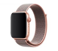 Нейлоновый ремешок для Apple Watch 38/40 мм, розовый песок