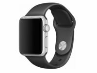 Силиконовый ремешок для Apple Watch 38/40 мм, черный