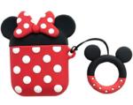 Чехол для AirPods/AirPods 2 3D Minni mouse (красный)