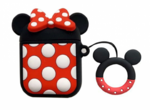Чехол для AirPods/AirPods 2 3D Minni mouse (черный)