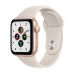 Apple Watch SE, 40MM, 2021, Корпус из алюминия золотого цвета, Спортивный ремешок цвета Starlight