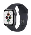 Apple Watch SE, 40MM, 2021, Корпус из алюминия цвета «серый космос», Спортивный ремешок цвета Midnight