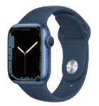 Apple Watch Series 7, 41mm, Blue, Abyss Blue Sport Band
