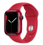 Apple Watch Series 7, 41mm, (PRODUCT)RED, Red Sport Band