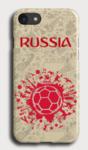 Чехол силиконовый Russia с мячом iPhone 7 Plus/8 Plus, прозрачный