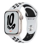 Apple Watch Nike Series 7, 41mm, Starlight, Pure Platinum/Black Sport Band
