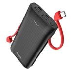Внешний аккумулятор Hoco J67, кабель Type-C/Apple, черный, 10000mAh