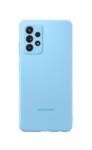 Чехол Samsung Silicone Cover A52, голубой